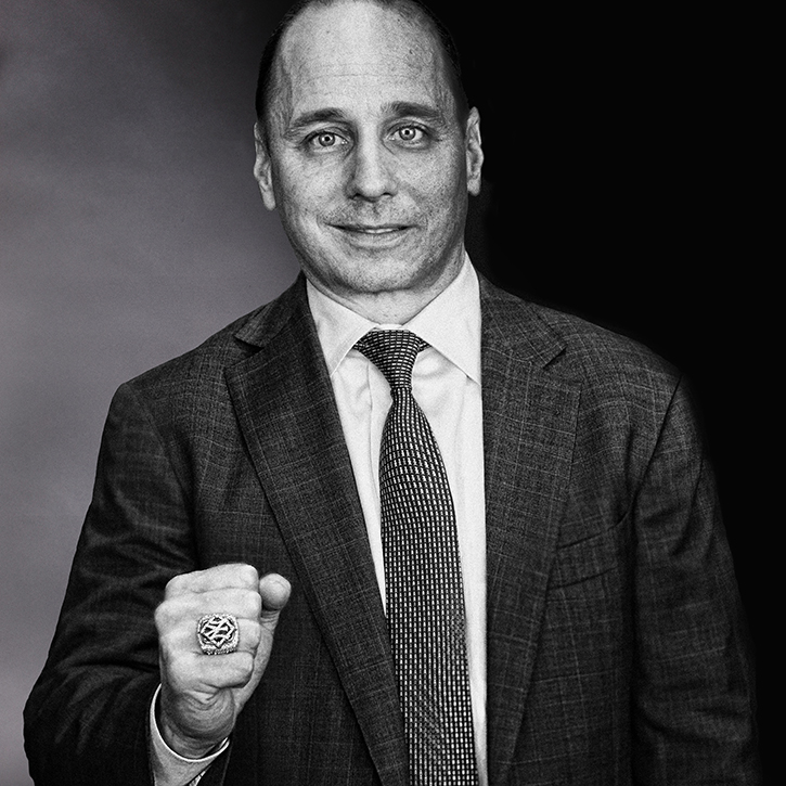 Brilliant Black And White Portrait: Brian Cashman 2